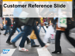 Customer Reference Slide - SAP Application Development Partner