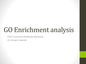 GO enrichment analysis tools