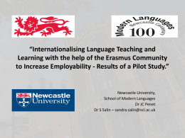 Internationalising Language Teaching and Learning with the help of