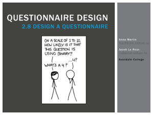 Questionnaire-design - CensusAtSchool New Zealand