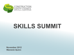 Warick Quinn, Construction Safety Council – Session 8