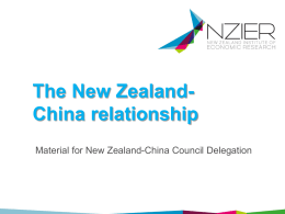 The New Zealand- China relationship