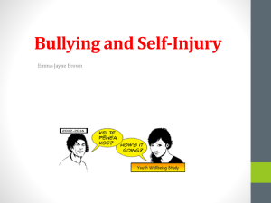 Presentation slides: Bullying and Self
