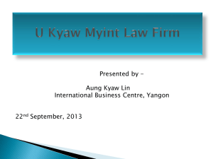 U Kyaw Myint Law Firm - Myanmar Legal Aid Network