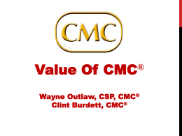 The Value of the CMC - Institute of Management Consultants