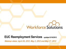 EUC REA Webinar - Workforce Solutions