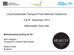 Local Sustainability Transport Fund Key Component