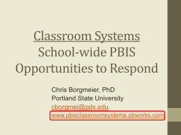 Verbal Responses - pbisclassroomsystems