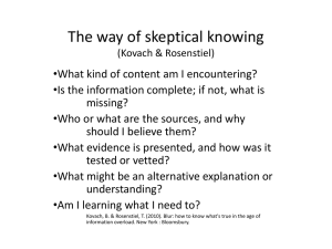 Skeptical Ways of Knowing