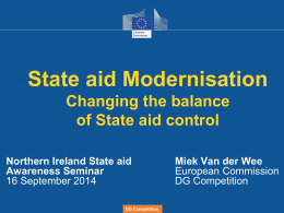 State Aid Modernisation