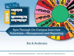 Spin Through On-Campus Interview Schedules