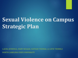 Sexual Violence on Campus Strategic Plan