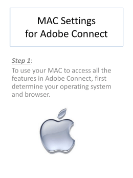 MAC Settings for Adobe Connect