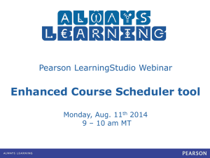 Enhanced Course Scheduler Presentation