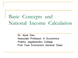 Basic Concepts and National Income Calculation