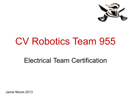 Team 955 Electrical Certification
