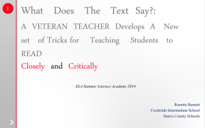 Close Reading PPT 2014