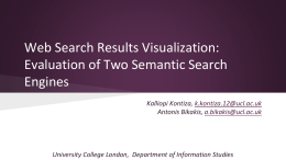 Evaluation of Two Semantic Search Engines