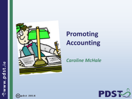 Promoting Accounting Powerpoint
