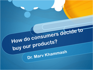 How do consumers make decisions and decide what to buy?
