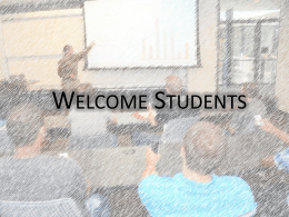 Welcome Students - Turning Technologies
