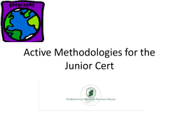 Active Methodologies for the Junior Cert