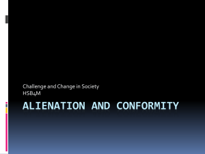 Alienation and Conformity PPT