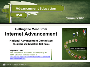 Internet Advancement - Chief Seattle Council