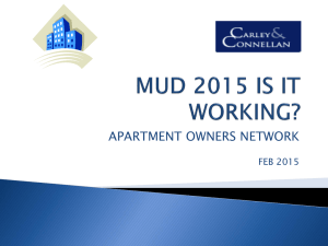 MUD 2015 presentation Powerpoint