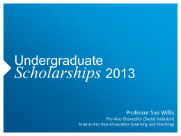 Scholarships - Monash University
