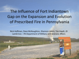 The Influence of Fort Indiantown Gap on the Expansion and