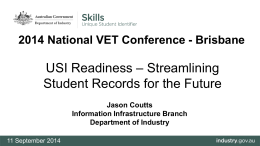 2014 National VET Conference - 11 September 2014