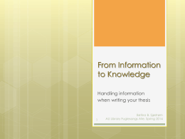 Information and research when writing your thesis