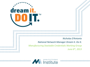 Dream It. Do It. - Advanced Manufacturing Talent Network