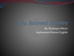 Cry, Beloved Country