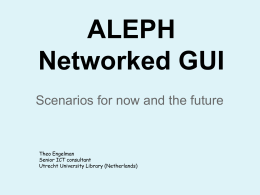 Networked GUI scenarios