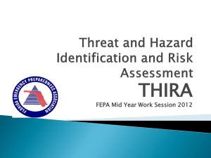 Threat and Hazard Identification and Risk Assessment