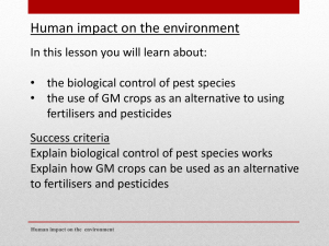 The biological control of pest species