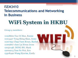 Wifi infrastructure in HKBU Campus