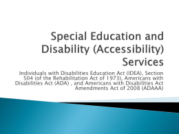 Disability Services Presentation