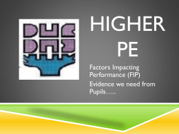 Higher PE fip presentation