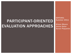 the Participant-Oriented Evaluation