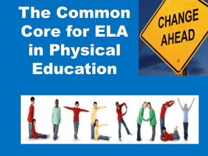 The Common Core for ELA in Physical Education