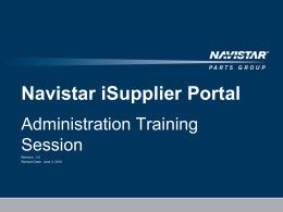 ppt - Supplier - navistarsupplier