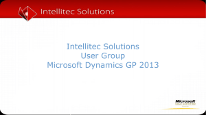 What*s new in Microsoft Dynamics® GP 2013