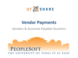 Non-PO Payments in PeopleSoft