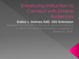 Enhancing Instruction to Connect with Diverse Audiences