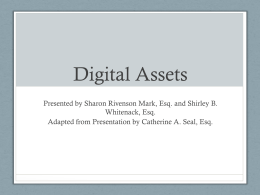 Mark Whitenack Digital Assets PowerPoint Presentation []