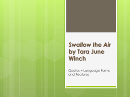 "A COLLECTION OF ""Swallow the Air Quotes"""