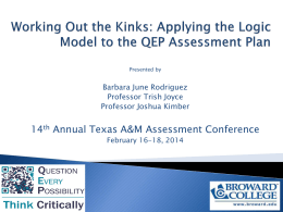 QEP_Logic_Model_TexasAM_Assessment_2014